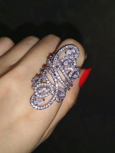 Find More Rings Information about The graceful lines long ring Fahion finger rings This product has 180 grains of zircon In gift box ALW1515,High Quality ring stretch,China ring Suppliers, Cheap ring metal from ALW Fashion Focus on Aliexpress.com