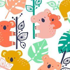Koala love #wendykendalldesigns #surfacepatterndesign #jungle