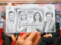Sort of Dear Photography: bbc breakfast by Ben Heine