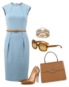 Untitled #1680 by bsimon-1 ❤ liked on Polyvore featuring Michael Kors, Christian Louboutin, Valentino, Allurez and Coach