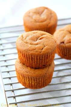 Skip the honey for Whole Flourless Almond Butter Pumpkin Muffins. Tender and light pumpkin muffins that are flourless and dairy free! Best Gluten Free Desserts, Paleo Sweets, Paleo Dessert, Low Carb Desserts, Just Desserts, Dessert Recipes, Brunch Recipes, Breakfast Recipes, Paleo Baking