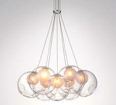 Image result for glass ball pendant light