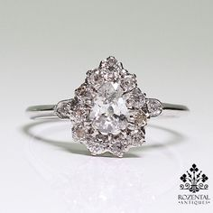Antique Edwardian Platinum Diamond Ring
