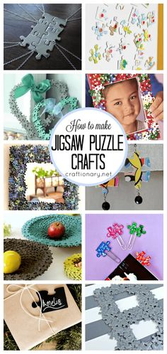 DIY jigsaw puzzle crafts and ideas for creative minds DIY jigsaw puzzle crafts and ideas to create personalized puzzles, reuse puzzle pieces into creative projects, printable puzzles and more for adults & kids. Arts And Crafts For Adults, Crafts For Teens To Make, Easy Arts And Crafts, Arts And Crafts Projects, Arts And Crafts Supplies, Crafts To Do, Diy Crafts, Garden Crafts, Kids Diy