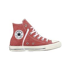 Converse Chuck Taylor All Star High Top Sneaker ($60) ❤ liked on Polyvore featuring shoes, sneakers, retro hi tops, converse sneakers, canvas lace up sneakers, hi top canvas sneakers and high-top sneakers