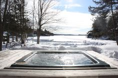 Muskoka Winter . One does not see this often, maybe a resort.