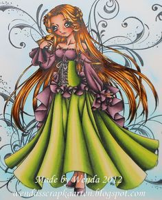 Copic Marker Benelux ~ Copics: Haren: E59-E37 - YR24 - y26 -Y15-y21 - E50 Skin: R22 - R20 - E11 - E00 - E000 Old Rose: RV99 - RV95 - RV93 - RV91 Green: G99 - G85 - YG03 - YG00 - YG000 Background is sprayed: B0000 - B000 - B01 - B02