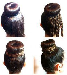 Moño con trenza #moños #peinados http://www.smugin.com/look/229
