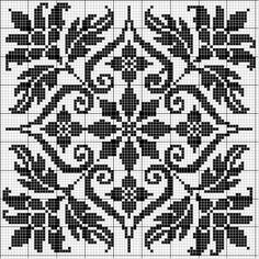 Square 29 | Free chart for cross-stitch, filet crochet | Chart for pattern…