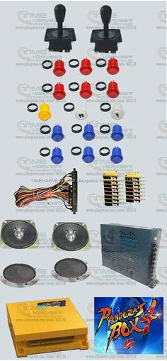 94.00$  Buy here - http://alistd.worldwells.pw/go.php?t=32763547903 - Arcade parts Bundles kit With 645 in 1 Pandora's Box 4 american style Joystick american style button Microswitch Jamma Harness