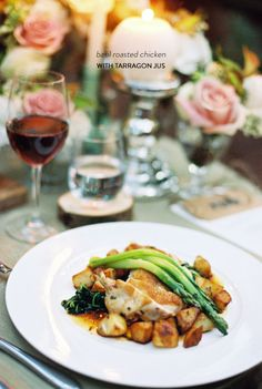 This basil chicken with tarragon jus is the perfect recipe for a romantic date night in.