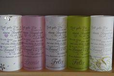 Etwas besonderes für die Kommunion, Konfirmation 2 Stück Auswahl: Papier mit grünen Ranken, Papier grün, Paier mit Kelch-Fische, Papier lila Blumen, (Papier rosa AUSVERKAUFT) Windlichter...