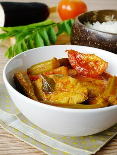 Assam Fish Curry Assam Fish Curry is one of my favourite curry for many reasons. Firstly, it is not only hot but also addictively sour as well thanks to the tamarind (or better known locally as assam/asam). Secondly it is healthy with lots of vegetables (lady's fingers, tomatoes and eggplants)