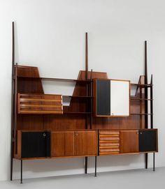 Vittorio Dassi; Wall Unit for Dassi, 1950s.