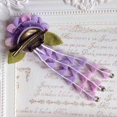 つまみ細工✼紫陽花の髪飾り
