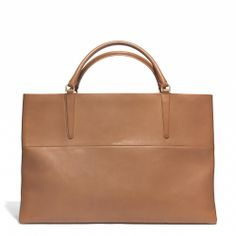 Coach :: Large East/West Town Tote in Retro Glove Tan Leather
