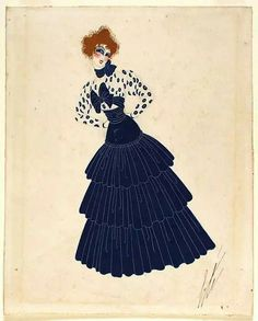 Costume Sketch for Ganna Walska as Zazà, Erté 1920