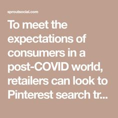 To meet the expectations of consumers in a post-COVID world, retailers can look to Pinterest search trends to inform their decision making. Grocery Delivery Service, Plan For Life, Diy Haircut, Road Trip Packing, Search Trends, Consumer Behaviour, Decision Making, Pinterest Marketing, Retail