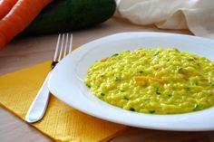 Risotto+cremoso+zucchine+e+carote+alla+curcuma