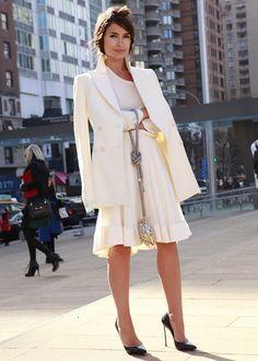 Miroslava Duma all white ensemble