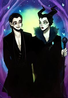 Diaval and Maleficent by SavvySleeves on DeviantArt