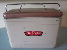 Vintage Knapp Monarch Therm a Chest Metal Cooler by AtomicHostess, $90.00