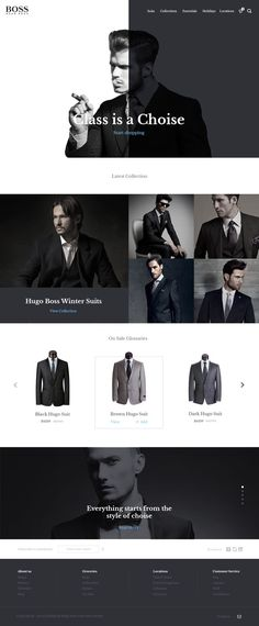 I like the position of the menu bar and position of the name Hugo Boss Concept by Arnas Jonikas