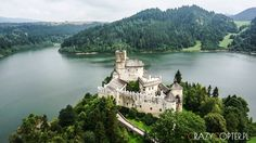 Niedzica Castle, Poland.One of the most beautiful castles in Poland. On the top of the hill with the view over water damm in Czorsztyn. Camera : Sony a6000 Drone : Custom hexacopter City : Niedzica Street : Zamek 1 County or State : Lesser Poland Country : Poland