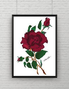 Here ist the final rose, I made for this design. :) Tomorrow I will show you finally the end result :)    -  -  -  -    #VectorCatDesign #vectorcatdesign #bedroom #decoration #design #art #vector #vectors #vectorillustration #wallart #vectorcat #artwork  #illustrator  #tattooart   #tattoodesign  #antler #flower #animalskul #skull #deer #romantic #bow #tattoo #tattooartwork #oldschool #newschool #hipster #retro #vintage
