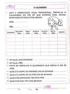 matemática - 5 e 6 anos (136) Portuguese Language, Learn Portuguese, Professor, Classroom, Education, Learning, Preschool Literacy Activities, Cognitive Activities, Lesson Planning Templates
