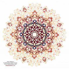 Art islamique, style persan Tazhib Toranj | Galerie d'art islamique et Photographie