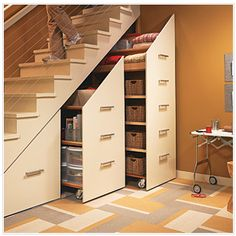 fantastic idea for a downstairs office or storage-blankets/DVD/CD/Toys?etc