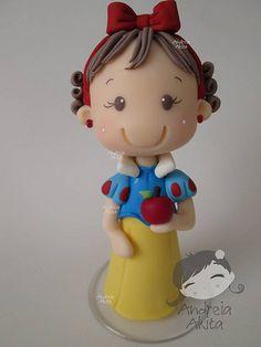 02/11 - Topo da Melina Branca de Neve - Obrigada a Mamãe Roberta Dantas - Rio de Janeiro-RJ