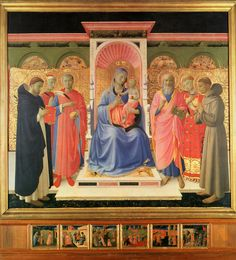 ANGELICO, FRA Vicchio di Mugello, Florencia, 1395 – Roma  Annalena Altarpiece c. 1435. Tempera and gold on wood. 230 x 223 cm. Museo di San Marco, Florence.