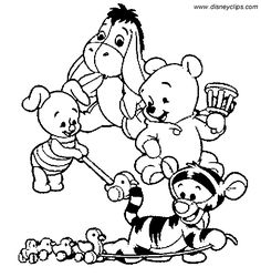 Baby Pooh Bear Coloring Pages | winnie the pooh coloring page