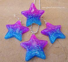 Night Sky Lilac Pastel Star Ring Kawaii Face Shimmer