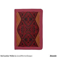 Shop Red Leather Wallet created by LovedWarriorDesigns. Leather Texture, Red Leather, Different Colors, Leather Wallet, This Or That Questions, Beautiful, Design, Products, Gadget