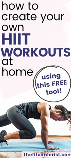 How to Create a Free HIIT Workout Plan (That's Insanely Effective! Cardio Hitt Workout, Full Body Hiit Workout, Hiit Workout At Home, Treadmill Workouts, Fun Workouts, At Home Workouts, Body Workouts, Fitness Workouts, Free Workout Plans
