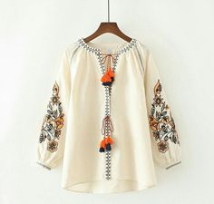 Plus Size Women Clothing Long Sleeve Cotton and Linen Blouse Shirt Casual Loose Beige Cape Shirts Cardigans Ethnic Tops Blusas Embroidered Kurti, Embroidered Jacket, Shoulder Shirts, Plus Size Womens Clothing, Blouse Patterns, Boho Tops, Plus Size Blouses, Kurtis, Lehenga