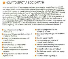 Sociopath personality traits