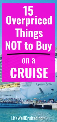 If you're planning a cruise vacation, these are the things you should NOT buy. The fact is, many things are way too expensive on a cruise ship, and so many new cruisers get stuck! Avoid these overpriced items on a cruise ship! Cruise Port, Cruise Vacation, How To Book A Cruise, D Book, Packing For A Cruise, Photo Packages, Cruise Destinations, Princess Cruises, Shore Excursions