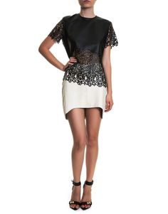 Laser Cut Faux Leather T-Shirt by Vitor Zerbinato