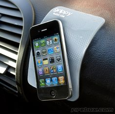 Grippy Pad allows you to magically stick things to your dashboard.