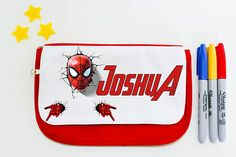 Super Hero personalised pencil case  spider-man home coming