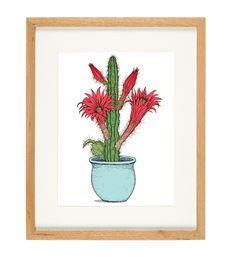 'Cactus Pot' - limited Edition of 50 - A4 giclee print (unframed) - anniedavidson.bigcartel.com