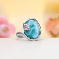 Premium Grade Larimar Ring  #LarimarJewelry