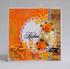 Orange thank you card by Anski