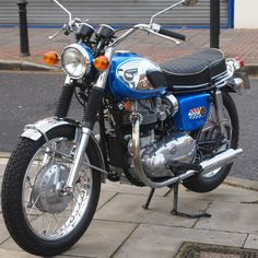 The Kawasaki W1 series - this is the 1969 version and was based on a BSA (A7). This bike is the basis for the later W 650 and then the W 800. So very much a development from the earlier British bike. Kawasaki purchased Meguro another Japanese bike company and it was Meguro who had the licence to make the BSA in Japan. Hence the BSA pedigree.