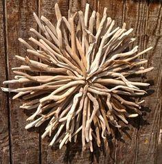Driftwood Art / ocean tide celestial sunwood sculpture