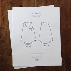 """Wiksten Tank Sewing Pattern - this is my """"in the works"""" pattern for summer Sewing Patterns Free, Free Sewing, Doll Patterns, Clothing Patterns, Pattern Sewing, Dress Patterns, Knitting Patterns, Sewing Hacks, Sewing Tutorials"""
